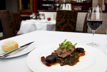 Venison rump, braised Puy lentils and black pudding at Number 5 Restaurant. Photo / Sarah Ivey