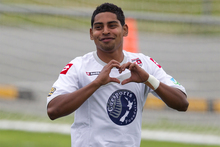 Waitakere United's Roy Krishna scored in just 28 seconds. Photo / Brett Phibbs 