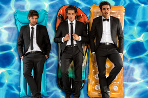 Hallenstein Brothers' range of suits are a hit among younger men. Photo / Supplied