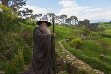 Gandalf the Grey in Hobbiton... or is that Matamata? Photo / Supplied