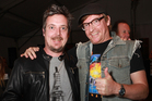 Grant Lobban (left) and Rhys Darby man up. Picture / APN