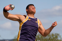 Sam Ulufoua has already qualified for next year's IAAF World Championships in the discus. Photo/ Greg Bowker