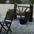A hail-covered desk in Rothesay Bay, Auckland. Photo / Theresa Davies