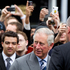 Prince Charles greets the public on Queen Street today. Photo / Steven McNicholl