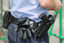 The security guard had a firearm on him, but did not use it during the violent struggle, before he was wounded by the two armed robbers. Photo / Thinkstock