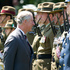 The Prince of Wales inspecting the Royal Guard of Honour during the Diamond Jubilee welcome ceremony at Government House in Wellington. Photo / Mark Mitchell