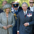 The Prince of Wales and he Duchess of Cornwall during the Diamond Jubilee welcome ceremony at Government House in Wellington. Photo / Mark Mitchell