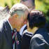 The Prince of Wales hongis with kuia Hiria Hape during the Diamond Jubilee welcome ceremony at Government House in Wellington. Photo / Mark Mitchell