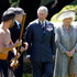 The Prince of Wales and he Duchess of Cornwall during the Maori challenge at the Diamond Jubilee welcome ceremony at Government House in Wellington. Photo / Mark Mitchell