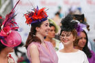 Racegoers arrive for the NZ Trotting Cup at Addington Raceway. Photo / Getty Images