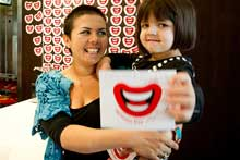 Eva Mitchell and her mother, Tiff, are helping raise cash for Ronald McDonald House. Photo / Dean Purcell