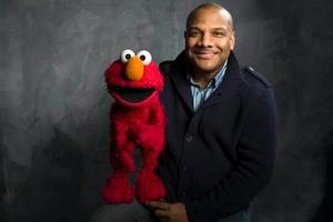 Muppet Elmo and puppeteer Kevin Clash. Photo / AP