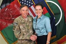 Gen. Davis Petraeus with Paula Broadwell. Photo / AP
