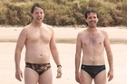 Deano (Hamish Blake, left) and Nige (Bret Mckenzie) in a scene from <i>Two Little Boys</i>.
