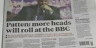 Watch: BBC: More heads may roll