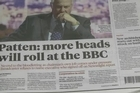 The BBC announced that two of its executives were standing aside on Monday and warned more heads may roll as it battles with a major crisis over its reporting of sex abuse that toppled the director-general.