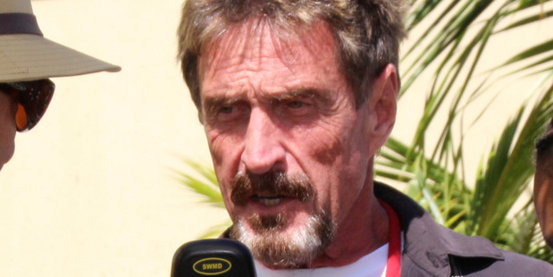 Software company founder John McAfee. Photo / AP