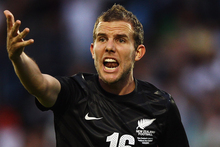 Striker Jeremy Brockie will attempt to break his duck for the All Whites overnight (NZT). Photo / Getty Images.
