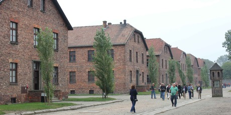 The Auschwitz barracks. Photo / Jill Worrall