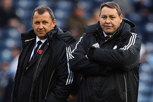 Italy are the best set-piece side in Europe, according to All Blacks assistant Ian Foster (left). Photo / Getty Images.