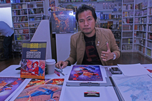 Harvey Tolibao has made it as a professional comic book artist, but his education continues. Photo / Herald online
