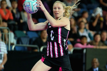 Laura Langman of New Zealand takes a pass. Photo / Getty Images. 