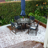 Hail whites out Randal's deck at his home in Rothesay Bay. Photo / Randal Lockie
