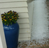 Hail covers Randal's deck at his home in Rothesay bay after today's storm. Photo / Randal Lockie