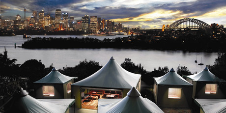 The campsite at Taroga Zoo has one of the best views in Sydney. Photo / Supplied