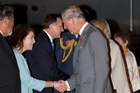 Bronagh Key greets Prince Charles. Photo / Neville Marriner
