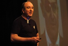 John Ansell at the Greenlane Christian Centre. Photo / Herald on Sunday