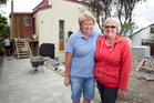 Margaret O'Brien (left) and Jan Jenkins are renovating a 'do-up' on Manuka Road with their husbands and will sell the property when finished.  Photo / Natalie Slade