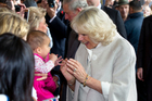 Camilla, the Duchess of Cornwall, meets the public in Auckland today. Photo / Steven McNicholl