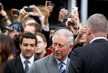 The Prince Of Wales in central Auckland today. Photo / Steven McNicholl