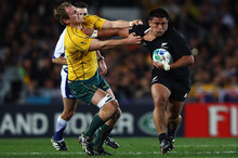 All Blacks hooker Keven Mealamu maintains an effective balance of power, technique and speed. Photo / Getty Images 