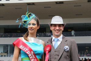 Winners of the Best Dressed Man and Woman competitions, Andrea Bryant of Merivale and Gareth Hide of Templeton.