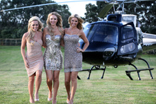 Hallensteins' use of Playboy playmates Heather Knox (left), Tiffany Toth and Jessa Hinton to market their brand has been labelled as a cheap stunt by some critics. Photo / Natalie Slade