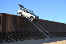 The XJ Jeep Cherokee tried to drive over a border fence between mexico and US. For use in Driven NOv 17. Photo / Supplied
