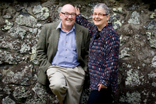 Herald writer Peter Calder with his wife, Alison Jones. Photo / Dean Purcell