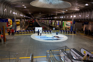 A signal failure cut stopped trains and left passengers stranded at Britomart Station. Photo / Sarah Ivey