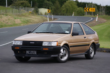 The mid 80s Toyota AE86is an emblem of all that was wonderful about that decade of motoring memories. Photo / David Linklater