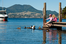 Next weekend Taupo hosts the Lake Taupo Cycle Challenge, but the town has much to offer whether you're a rider or not. Photo / Andy Belcher