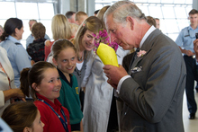 Prince Charles looks happier, more relaxed and much more approachable than we have ever seen him. Photo / Pool
