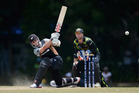 Kane Williamson's strike rate holds parity with most of NZ's top batsmen. Photo / Getty Images