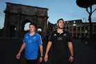 Rising stars Beauden Barrett and Luke Romano give the All Blacks selectors options to ponder. Photo / Getty Images