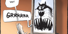 View: Cartoon: Mongrel training