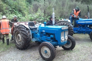 One of the lovingly restored vintage tractors, a Super Dexta. Photo / Murray Elphick
