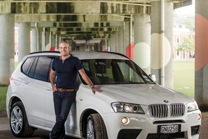 "BMW NZ ambassador and MasterChef judge Josh Emett says his X3 has ""plenty of grunt"".Photo / Ted Baghurst"