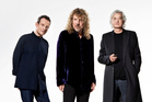 Led Zep originals John Paul Jones (left), Robert Plant and Jimmy Page celebrate their career. Photo / Supplied