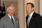 Britain's Prince Charles and Australian opposition leader Tony Abbott. Photo / AP